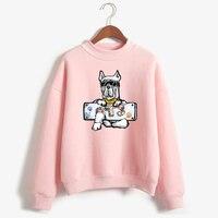 LUCKYFRIDAYF Love Yourelf K-pop Bangtan Boys Cartoon Dog X BTS Female Fans Hoodie Sweatshirt Women Korea Fashion Casual Clothes