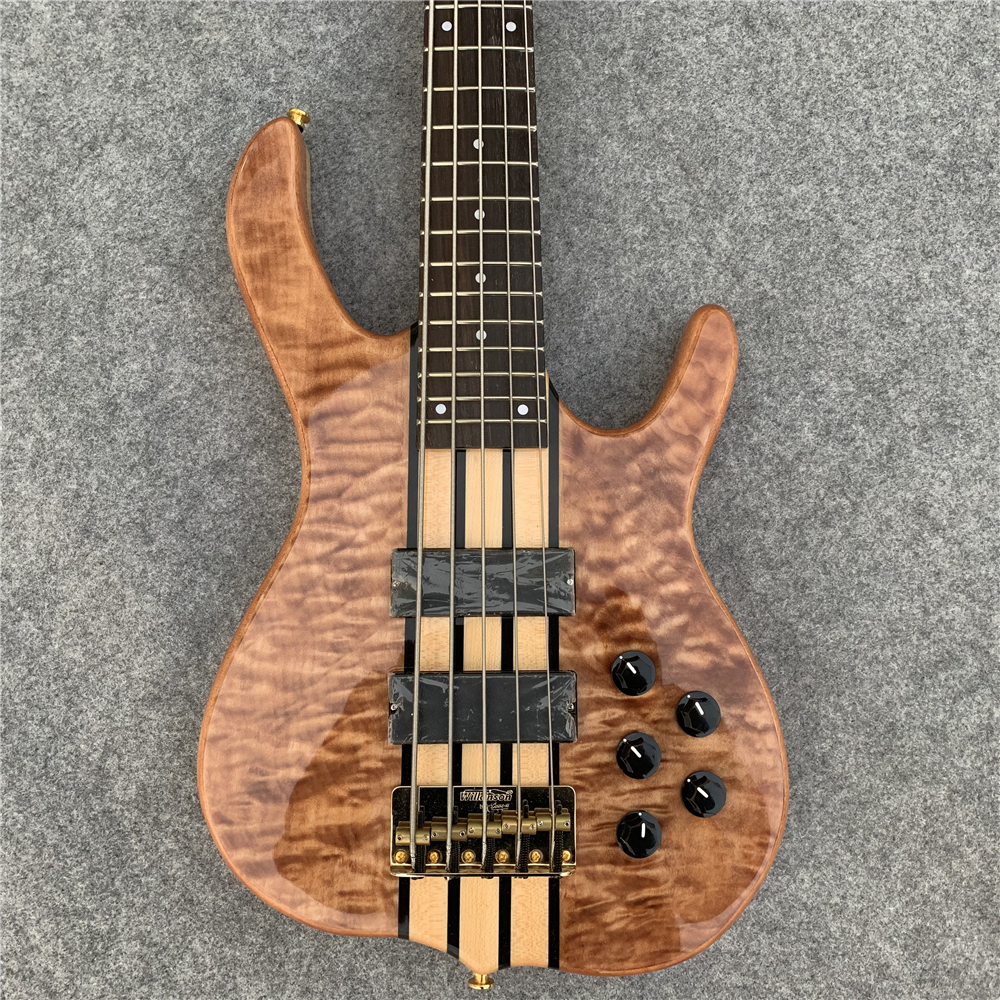 5 string electric bass, gold hardware, special band performance, craftsmanship, birthday present. Free shipping.