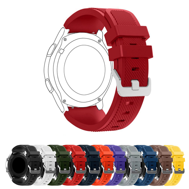 22mm Sports Silicone Strap for Samsung Gear S3 Frontier Band for Gear S3 Classic