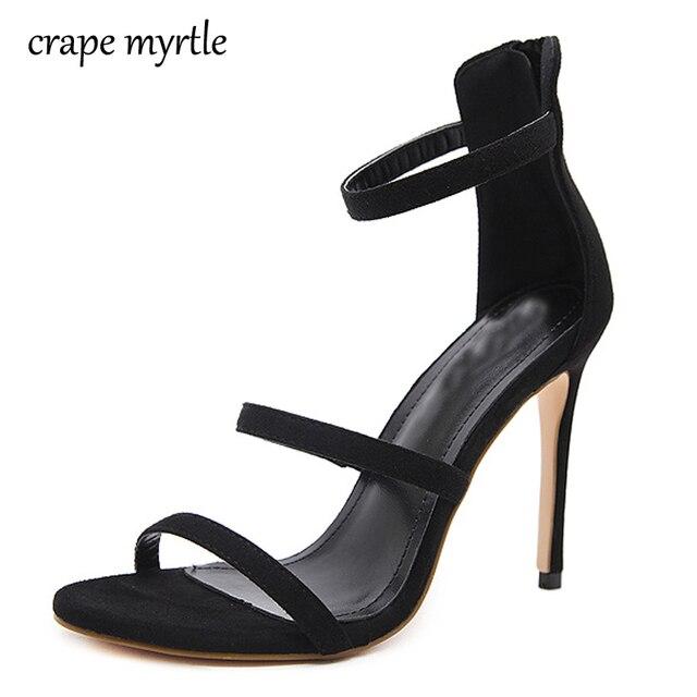 63933d6d569b8 strappy high heels sandals for women thin heels fetish high heels women  sandals summer 2018 low heel women shoes sandals YMA143
