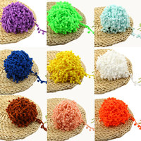Hot sale Lace Fabric 20 yard Sewing Accessories Pompom Trim Pom Pom Decoration Tassel Ball Fringe Ribbon DIY Material Apparel