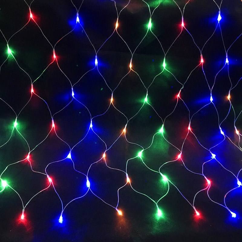 Christmas LED Net String Fairy Lights EU Plug Mesh Curtain Xmas Wedding Party Outdoor Indoor Waterproof Lamp CLH@8