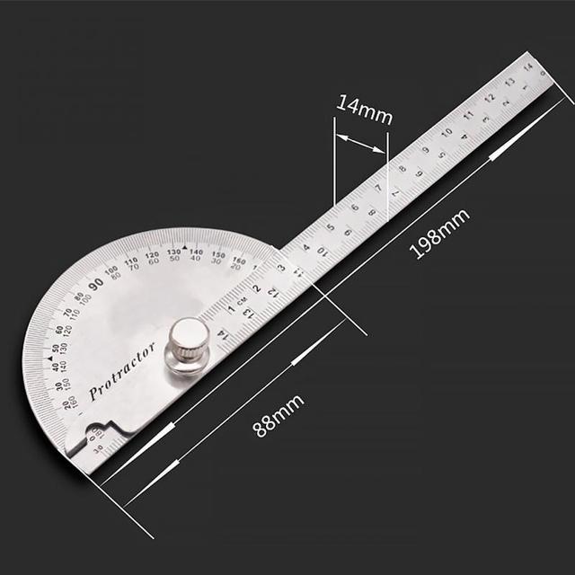 180 Degree Protractor Angular Angle Measuring Tool Ruler Adjustable Bevel Circle