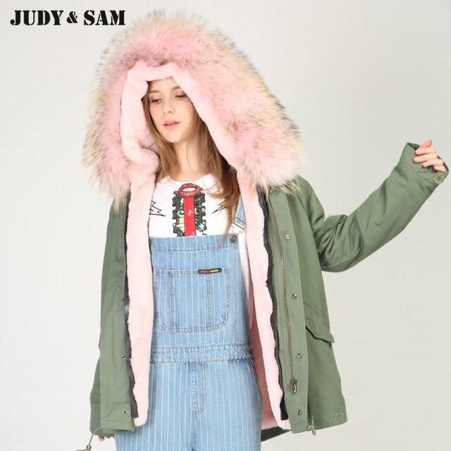Plus Size Fit 99-170lbs Winter Women Fur Parka Coat With Faux Fur inside Genuine Fur Hooded Fashion Brand Snow Coats Parkas Real
