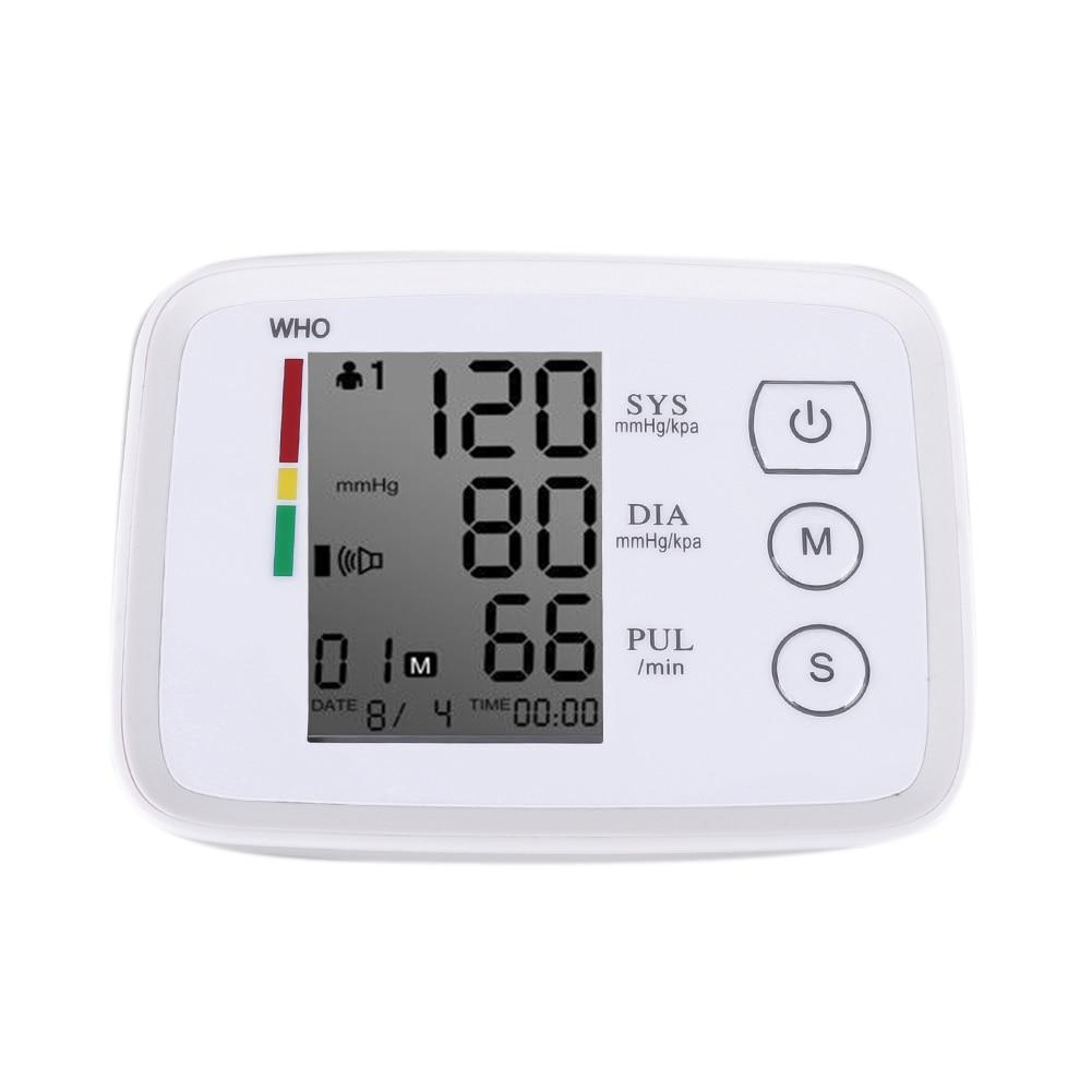 Automatic Digital Arm Blood Pressure Monitor Meter Cuff Blood Pressure Measurement Health Monitor Sphygmomanometer Health Care 170825 electronic sphygmomanometer on the arm home intelligent automatic measurement of blood pressure instruments