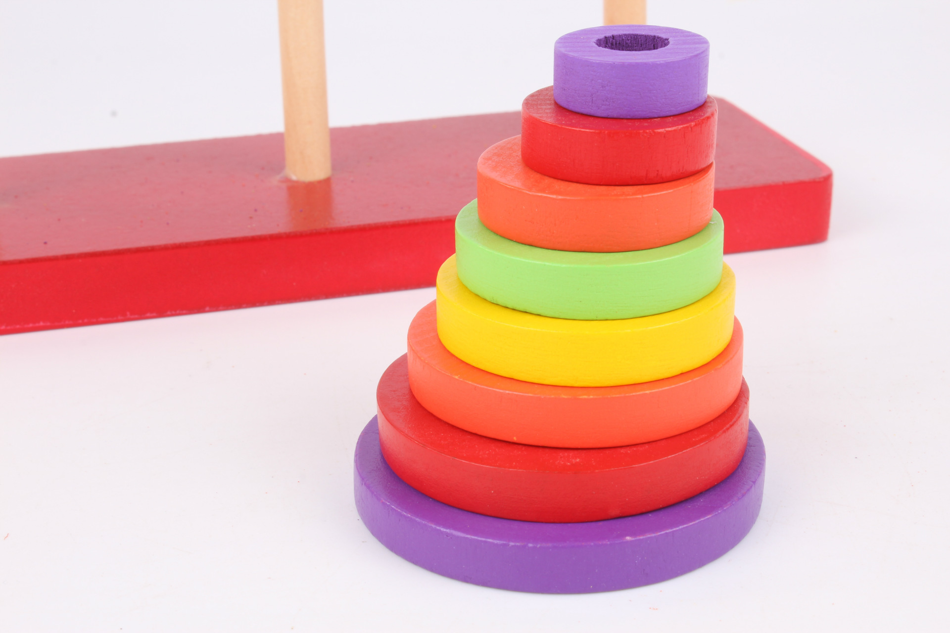 Tower of Hanoi Educational Toys Wooden Brahma Classic Math Puzzle