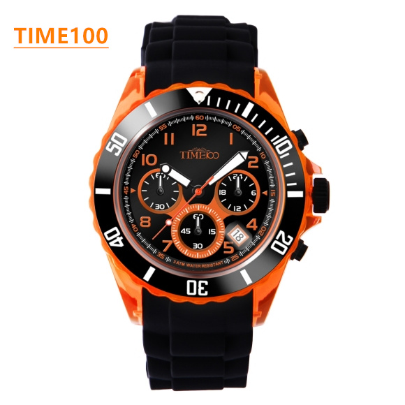 Fashion Mens Brand Watch Multifunction Environmental Jelly Silicone Strap Boy Girl Outdoor Original Sport Quartz Watches W018 original miler brand soft silicone strap jelly quartz watch wristwatches for women man lovers family black for led kids student