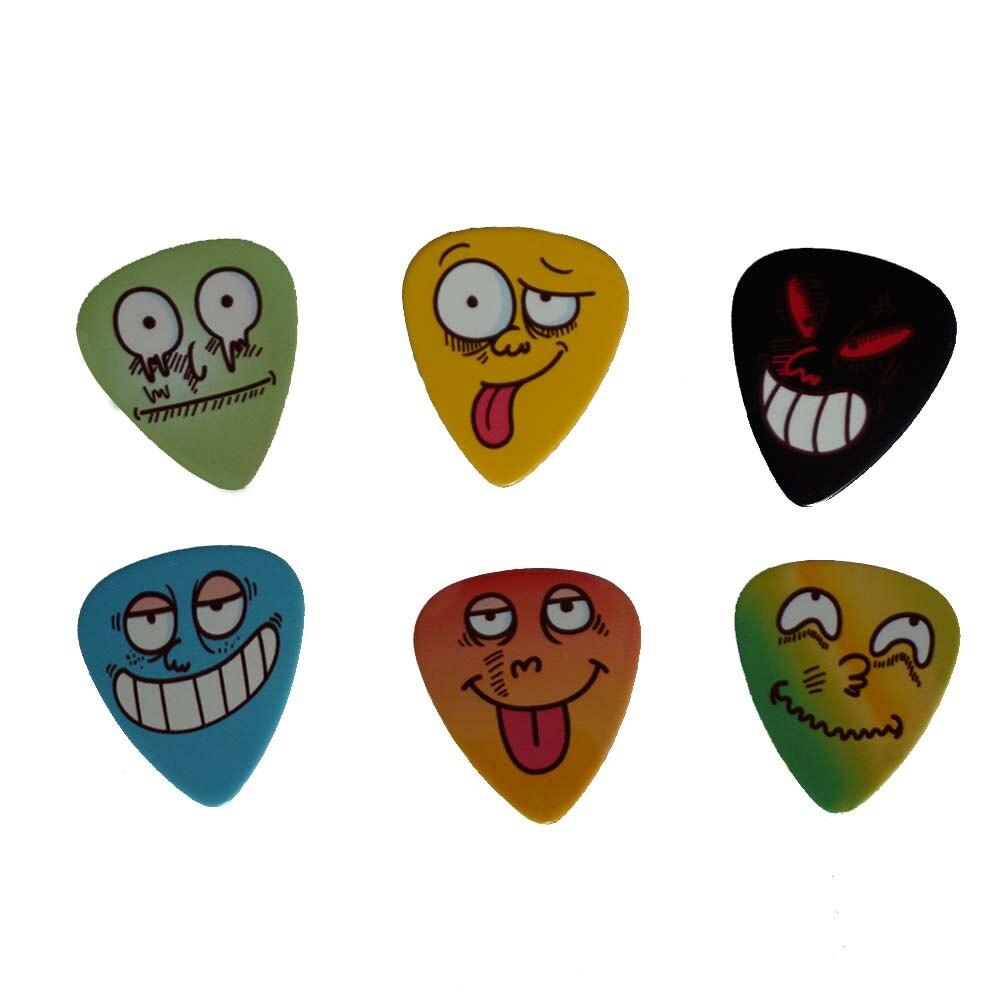 6pcs new guitar picks pretty durable guitar picks