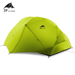 3F UL GEAR 2 Person 4 Season Camping Tent Outdoor Ultralight Hiking Backpacking Hunting Waterproof Tent 15D Silicone Zelt Tenten