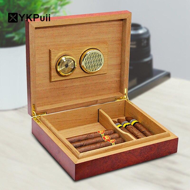 20 рассчитывать коричневый Cedar Wood подкладка хьюмидор увлажнитель с гигрометром Дело коробка с Измеритель Влажности Увлажняющий устройства