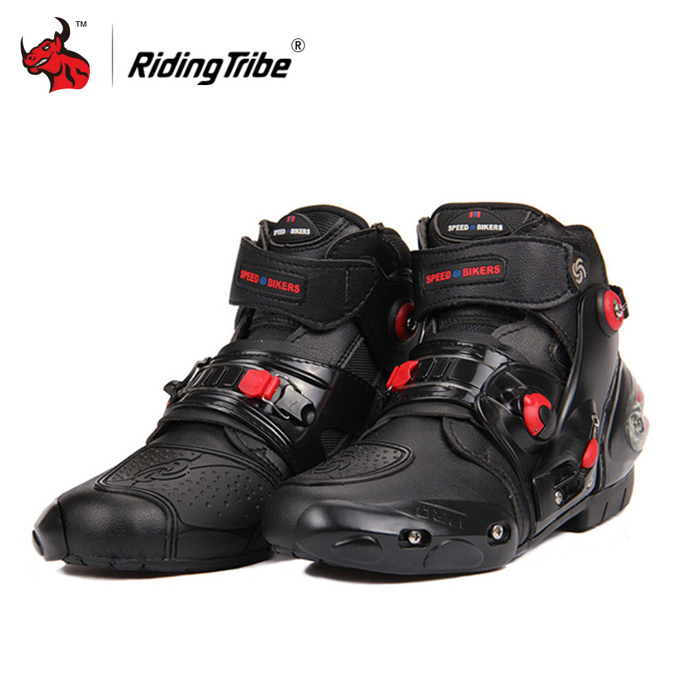 Riding Tribe Men's Motorcycle Boots Motorcycle Riding Boots Motocross Off-Road Shoes Motorcycle Riding Boots Men Botas Moto riding tribe speed motorcycle boots pu leather mid calf boots breathable motocross off road racing shoes botas de motociclista