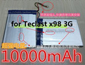 3.7 V 10000 mAh Batería de La Tableta Batería Bateria Para Teclast X98 3G PC de la Tableta de Teclast x98 3g