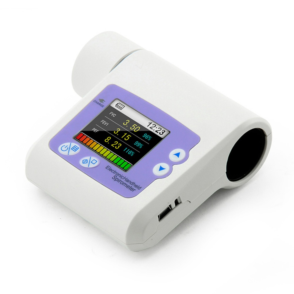 Well Packed Safe to Door Spirometer CONTEC SP10 Spirometer Respiratory Lung Volume device Pulmonary function