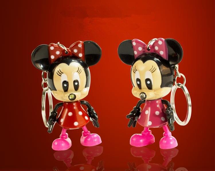 Cartoon Mickey Mouse <font><b>LED</b></font> Keychain <font><b>with</b></font> Flashlight & <font><b>Sound</b></font> keyring for gifts <font><b>pendant</b></font> /Mini Torch <font><b>Light</b></font> Action Toy Figures