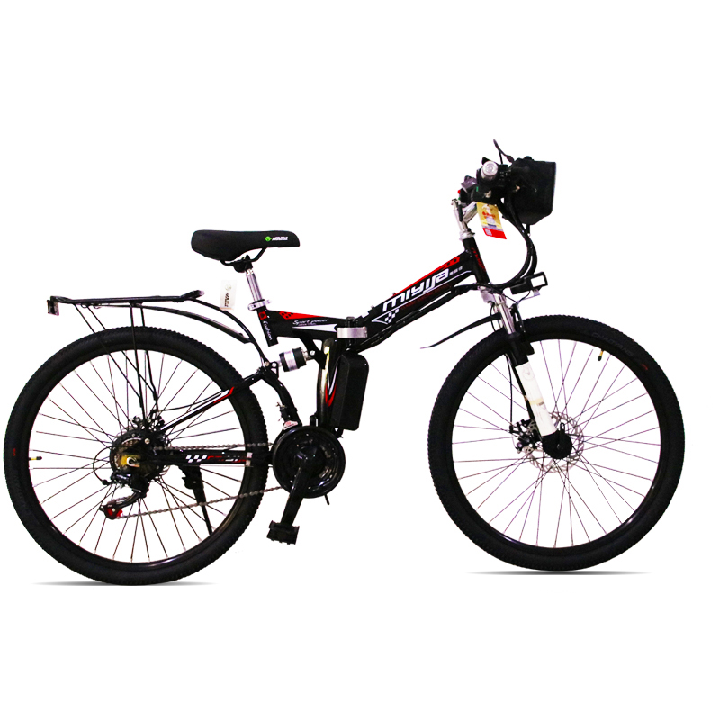 Free shipping to RU electric mountain bicycle folding frame ebike 48V lithium battery USB charge 21speed Electronic bike