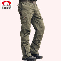 101Airborne Division Jeans Casual Training Plus Size Cotton Breathable Multi Pocket Military Army Camouflage Cargo Pants