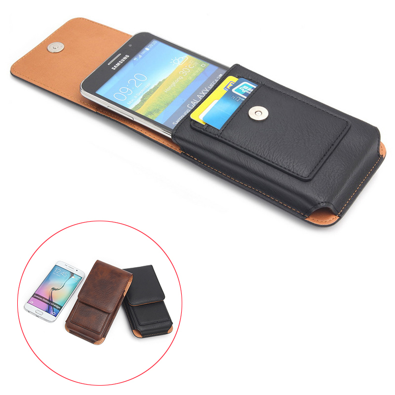 """Deluxe 360 Degree Rotation Design Holster Loop Magnetic Pouch with Belt Clip Phone Cases For All Smart Phone 4.7"""" Below"""