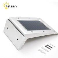 Giá rẻ 4 cái lamparas solares bên ngoài potentes không thấm nước năng lượng mặt trời ánh sáng chuyển động sensor nhôm năng lượng mặt trời powered 20 led đèn âm thanh pir