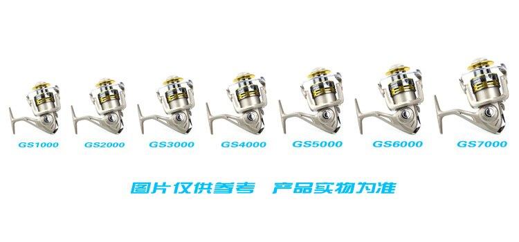 GS5000 Fishing Reels Metal Head Wheel Spinning Reel Ocean Wheel Tackle HIGH END WOODEN HANDLE..