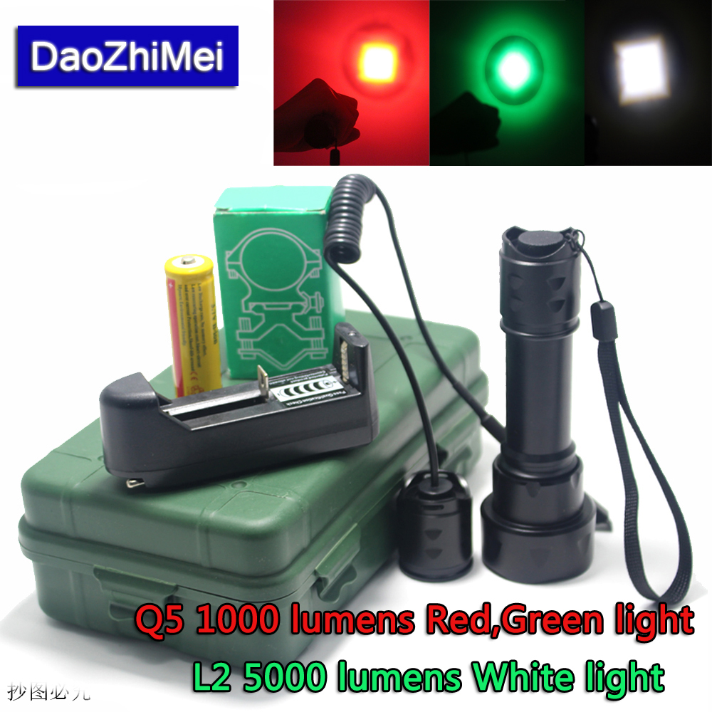 White/Green/Red 3 Light 4.5V 18650 Battery Hunting flash Flashlight Torch Lamp+pressure switch/mount/battery/charge sex shop huge realistic dildo with suction cup sex toys for woman sexo gay big penis anal butt plug vagina massage masturbation