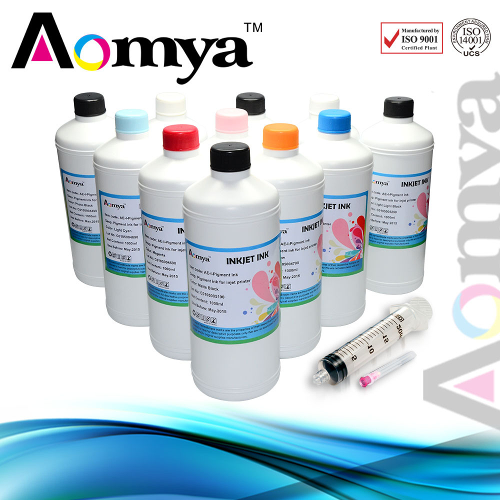 Any 1 color High Quality Pigment Ink For Epson Printer, 1000ml/ color high quality ink damper for epson 10000 106000 printer ink damper