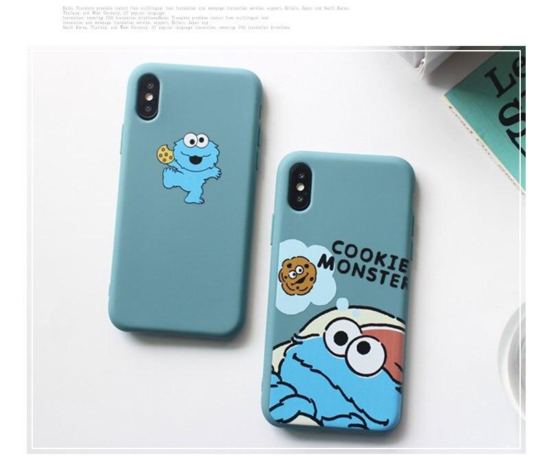 Sesame Street Case For iPhone 8 8plus 7 7 Plus Cases Silicone Phone Case For iphone 6 s 6s Plus X XR XS Max Cases Cover Coque    (10)