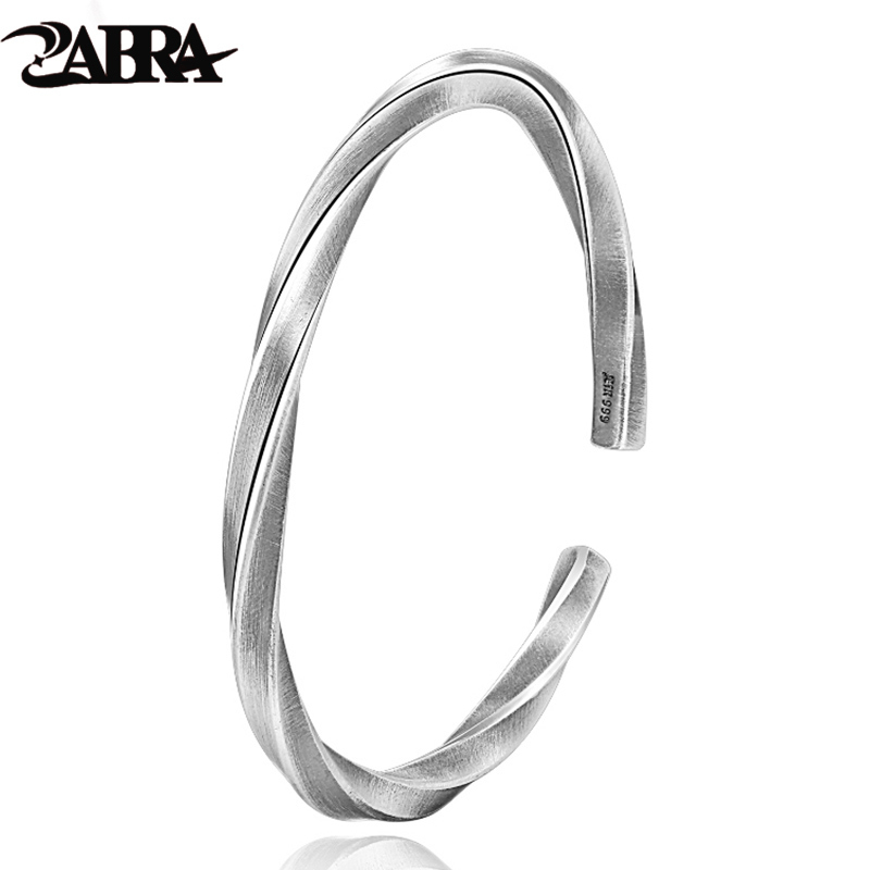ZABRA, srebrna bransoletka ze srebra próby 925 mężczyźni w stylu Vintage Punk Rock Sterling srebrne bransoletki dla kobiet otwórz bransoletki i Bangles biżuteria męska w Bransoletki i obręcze od Biżuteria i akcesoria na  Grupa 1