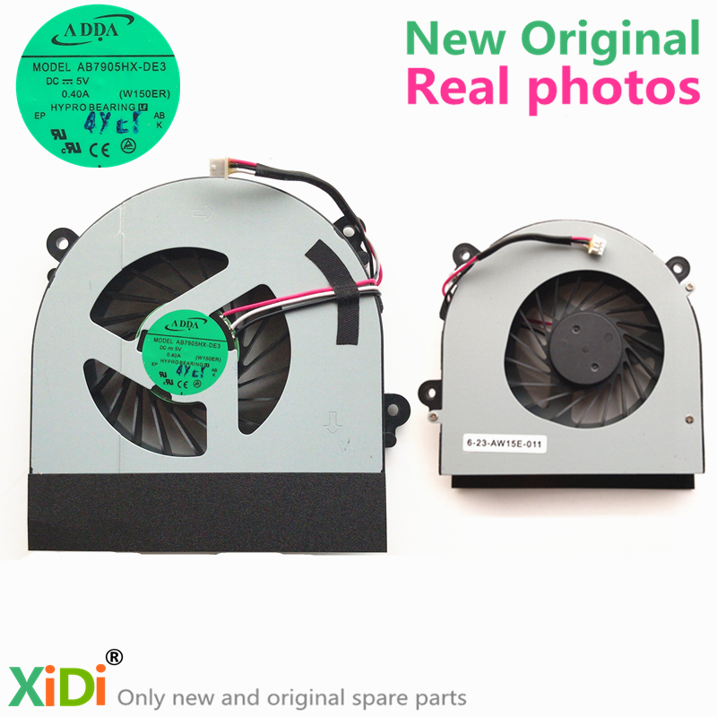 NEW 6-23-AW15E-011 CPU COOLING FAN FOR CLEVO W150ER CPU COOLING FAN new original cpu fan for asus s551 s551lb v551 v551lb cpu cooling fan sunon ef50060s1 c180 s9a dc5v 2 00w