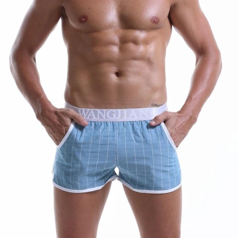 Sous-Vêtements sexy Pour Homme boxeurs mode décontracté Caleçon troncs hommes sommeil Bas gay Pénis pochette sous-vêtements Hommes short Taille XXL