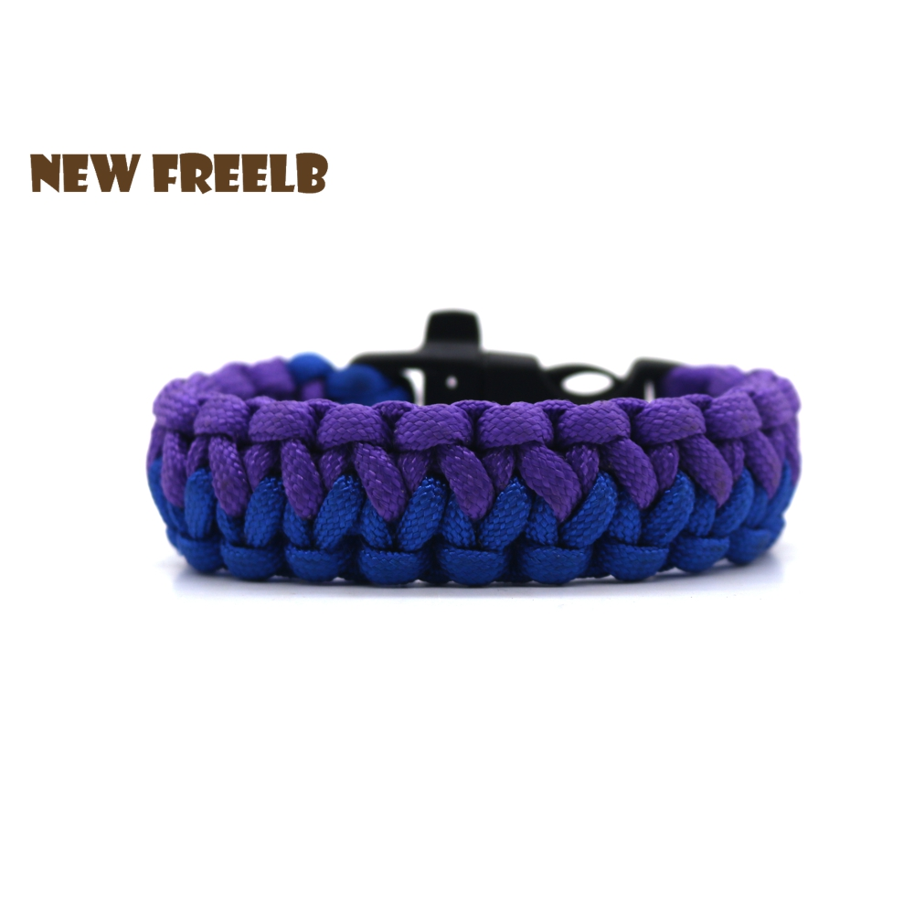 Personalised Fishtail 550 Paracord Survival Bracelets Blue Purple Camping Gear Handmade Outdoor Jewelry for Unisex Great Gift