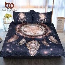 BeddingOutlet Dreamcatcher Bedding Set Twin Full Queen King Galaxy Golden Print Bohemian Bedclothes 3d Duvet Cover 3pcs Luxury