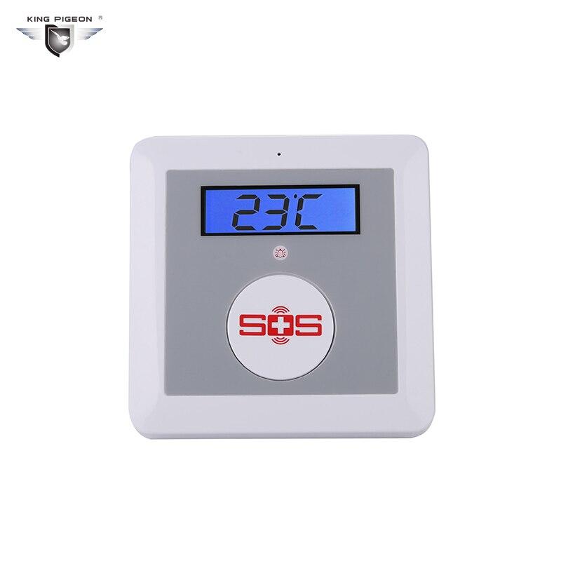 bilder für GSM Hause Alarmanlage Sos-ruf Altenpflege Alarm Home Sicherheit Stattet LCD Temperatur Detektor SOS Taste König Pigeon K3