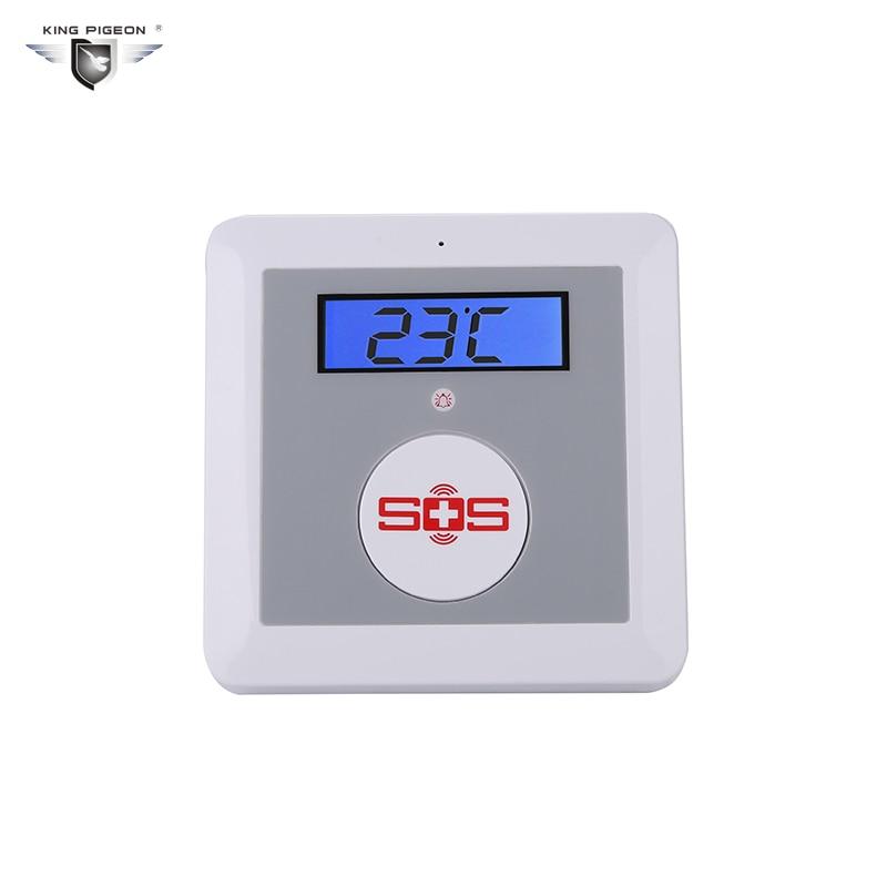 imágenes para Sistema de Alarma de Su Casa GSM SOS Llamada de Cuidado de Ancianos de Alarma En Casa Equipa LCD Seguridad seguridad Detector de Temperatura Botón SOS del Rey Pigeon K3