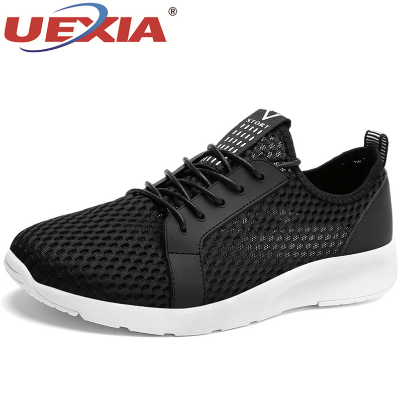 UEXIA Men Casual Shoes Breathable Mesh Casual Shoes Men Footwear Loafers Zapatos Hombre Trainers Chaussure Homme Big Size 35-48 cpi men casual shoes lightweight breathable flats men shoes footwear zapatos hombre casual shoes men chaussure homme zy 12