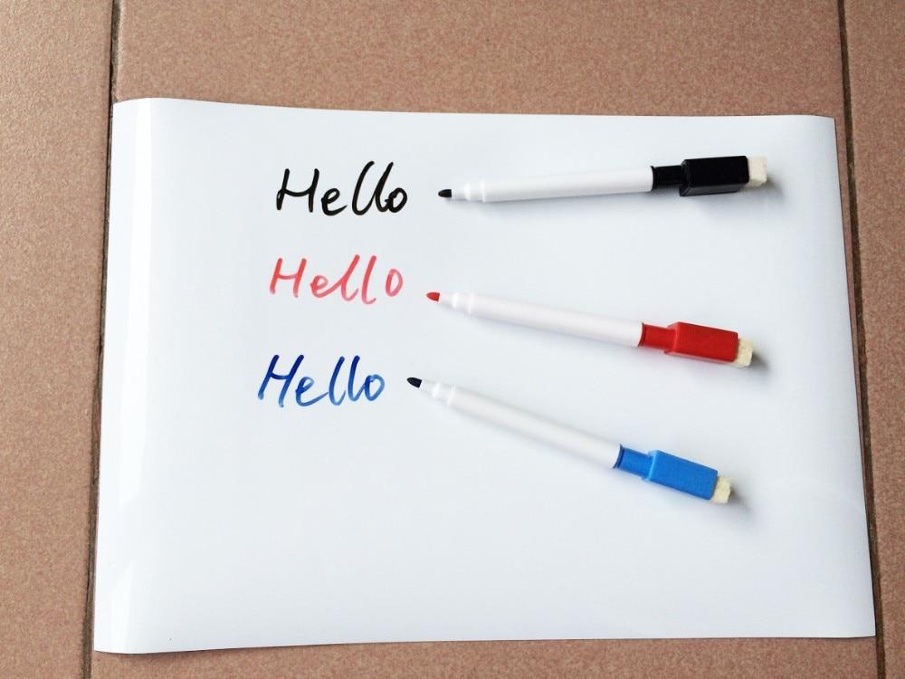 Erasable Magnetic Whiteboard Magnet Board Fridge Sticker Home Office Reminder Kitchen Message Board White Board Writing Pad Pen