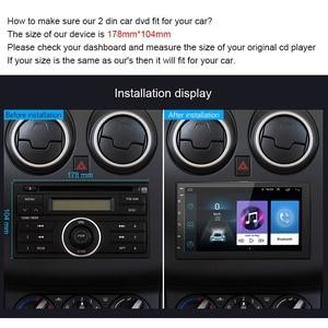 Image 3 - 7 นิ้ว Android8.1 2 Din รถ DVD วิทยุเครื่องเล่นมัลติมีเดียระบบนำทาง GPS สำหรับ Nissan peugeot toyota doble din Autoradio