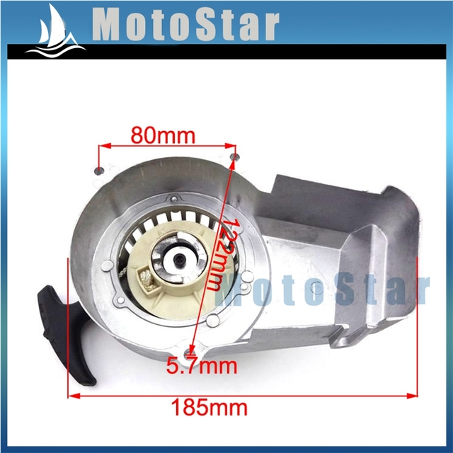 42ae18d062e Silver Alloy Pocket Bike Pull Starter Recoil For 2 Stroke 47cc 49cc Engine  Mini Moto Dirt