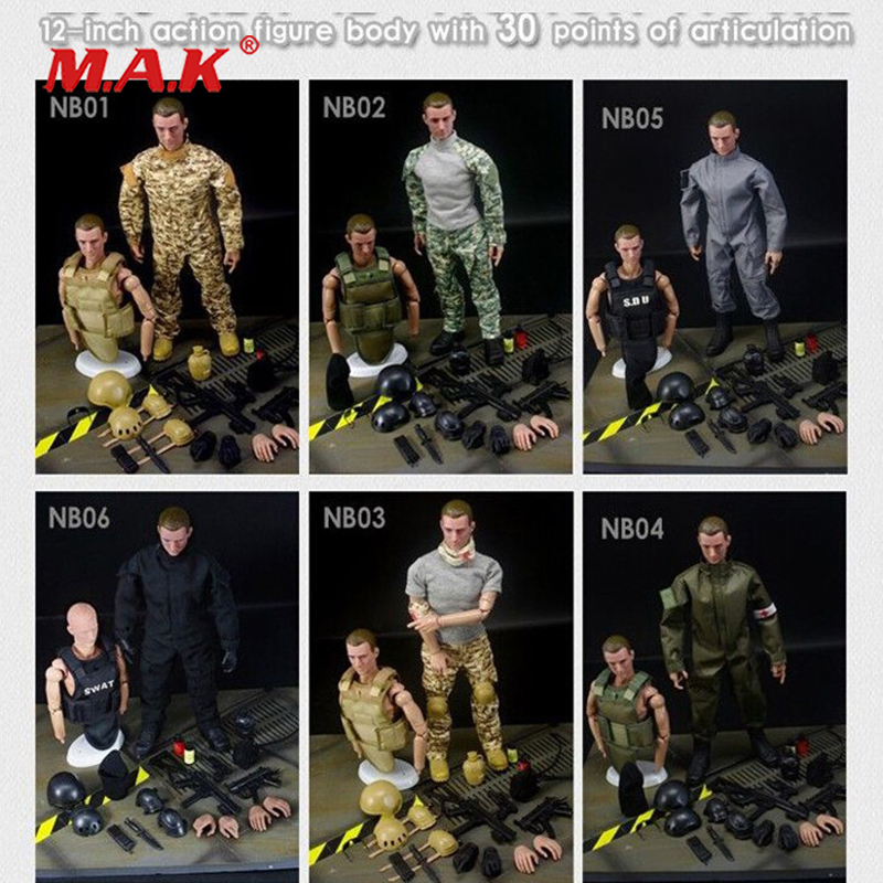 1/6 action figure military SWAT soldier uniform military toy soldiers force action figure set profession player model toys