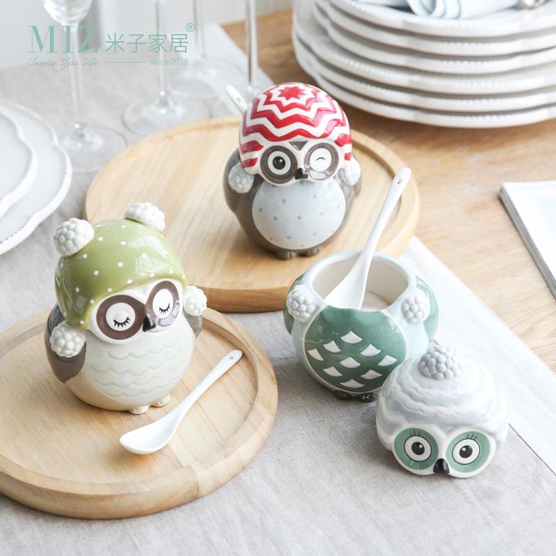 Decoration Pieces For Kitchen: Miz 1 Piece Storagae Box Spice Jar Cute Container Home