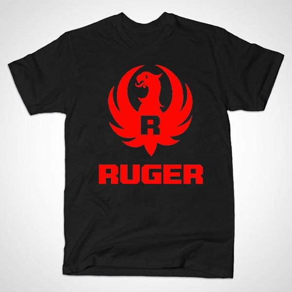 Free Shipping Summer New Ruger Logo Shirts Pro Gun Trendy