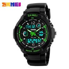 2014 Skmei 0931 Hombre deportes Militares relojes Marca popular Casual Reloj de pulsera Relojes digitales de hombres  (Verde) Fácil Venta