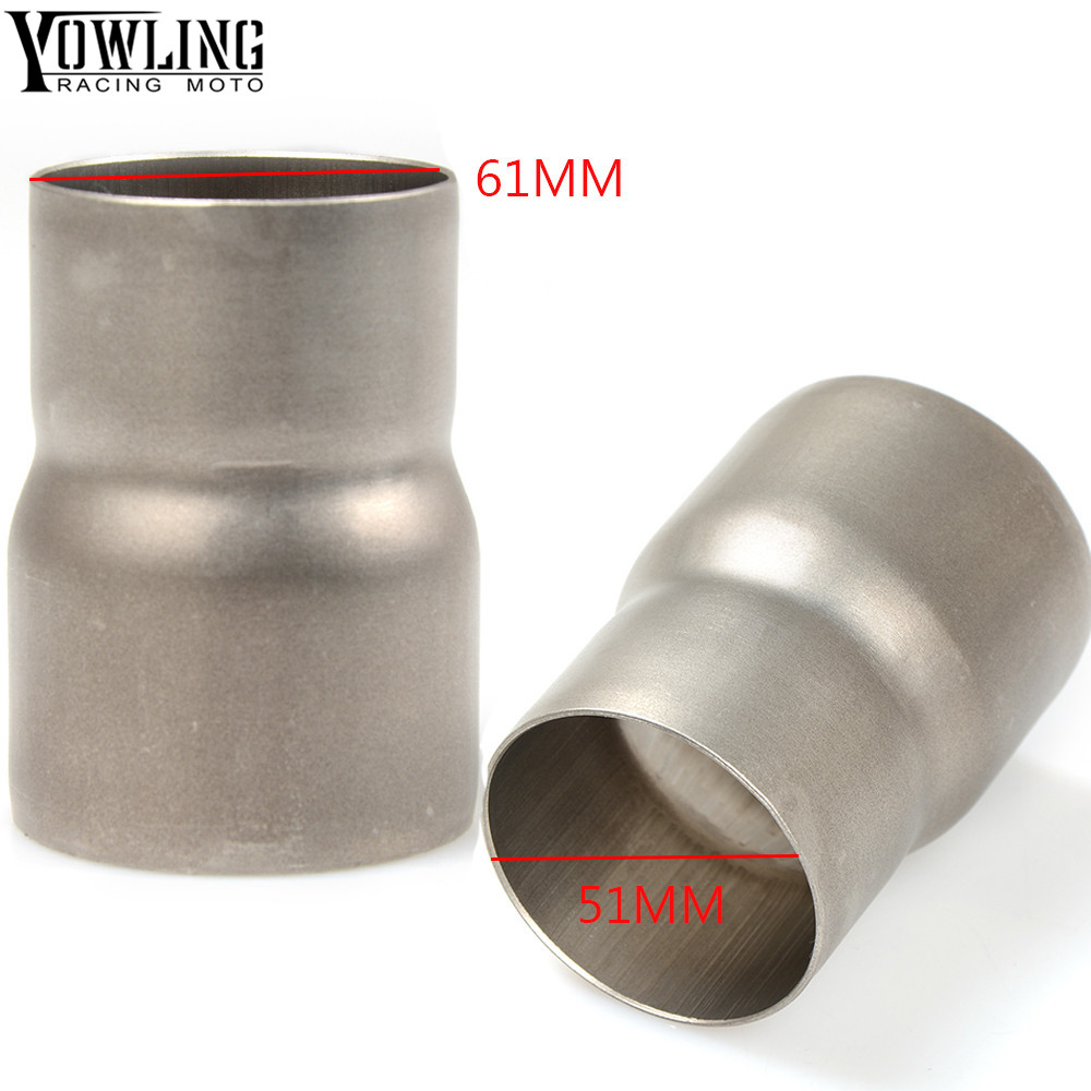 Universal 51MM 60MM Motorcycle Exhaust Pipe Conversion Interface Stainless Steel Adapter
