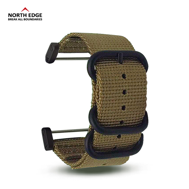 Watch band 24mm Width Military color outdoors watch strap replaced Nylon with Connector linker for RangeRidgeAltay North Edge