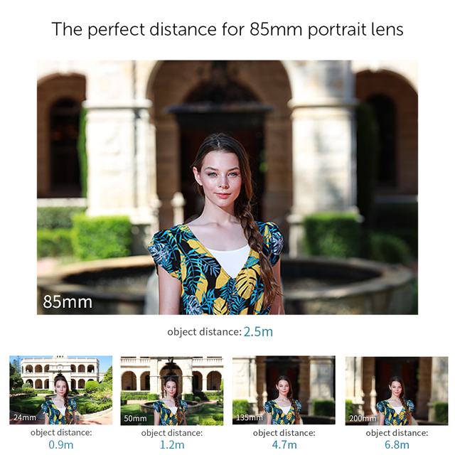 APEXEL Optic Pro Lens, 85mm 3X HD Telephoto Lens professional portrait  Lens, No Dark Circle for Samsung huawei Xiaomi cellphone 2