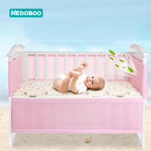 Medoboo 2Pcs/set Baby Bed Fence Safety Crib Guardrail Bumper Set Kids Playpen Children Care Barrier Accessories *