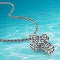 Винтажный чистое серебро крестики кулон ожерелье, Чистое серебро ожерелье властного мужчины