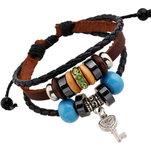 Ethnic 2018 Teen Wolf Triskele Key Bracelets Pendants Green Crystal