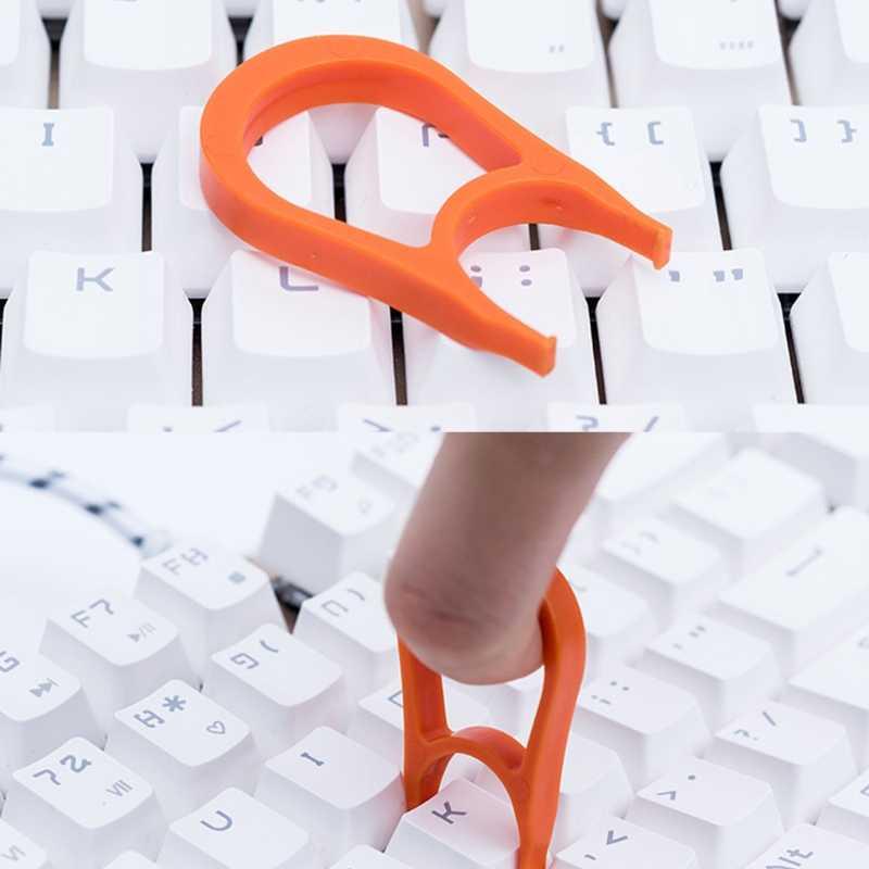 แป้นพิมพ์ Keycap Puller Remover สำหรับหมวก Fixing เครื่องมือสีสุ่ม