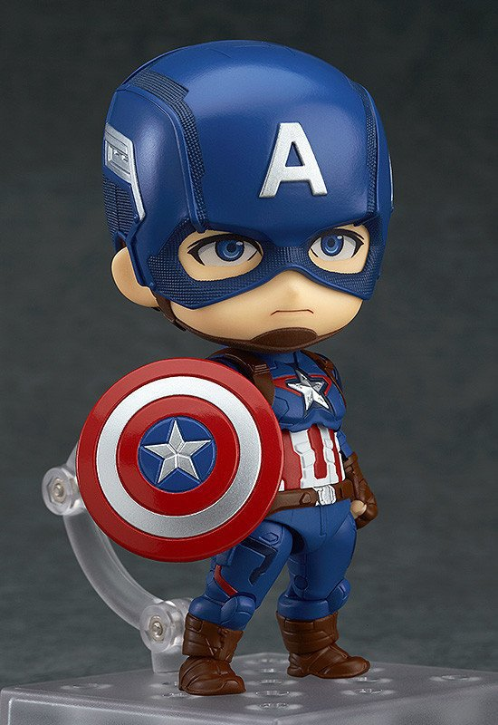Anime Figure Superhero Captain America Nendoroid 618 Juguetes PVC Action Figure Brinquedos Model Doll Kids Toys 10cm 11 5cm pvc funko pop cinderella doll action figure toy princess cinderella model figures for girls hot toys anime brinquedos