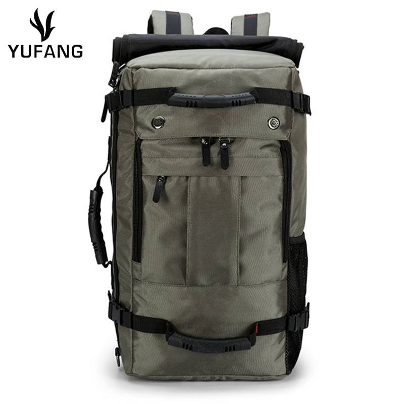 c7fdac5241 YUFANG Luggage Backpack Canvas Shoulder Folding Trip Backpack Vintage Color  Men Travel Bags Large Capacity Men Bag Laptop Tote-in Backpacks from  Luggage ...